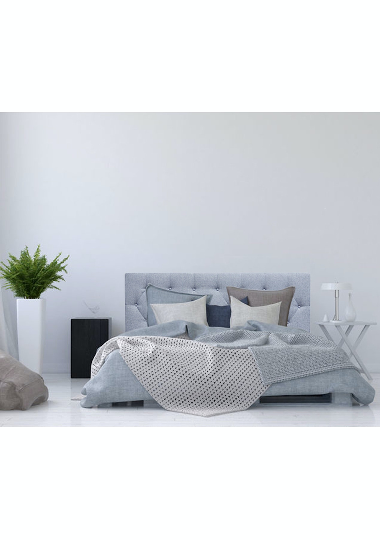 Linen blend headboard king grey marle headboards sofas more onceit