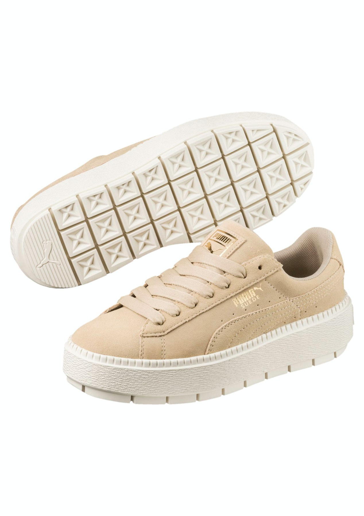 bf430160590 Puma Womens - Suede Platform Trace - Beige - The Big Warehouse Clearout -  Onceit