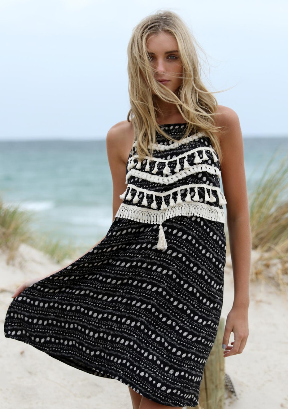 Madison - SUNSEEKER DRESS - BLACK PRINT