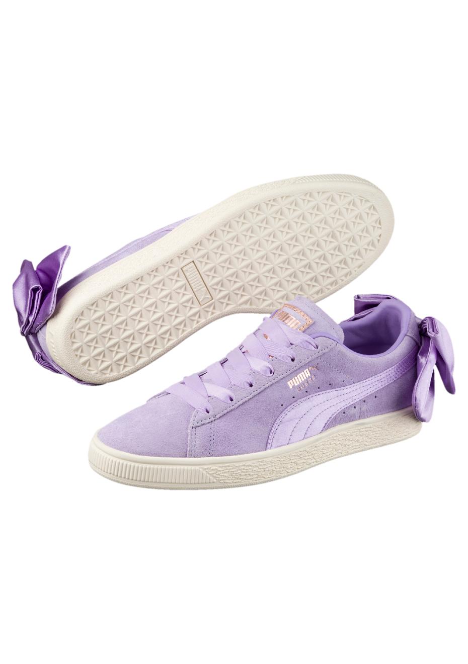 Puma Suede Bow W Schuhe Purple Rose: : Schuhe