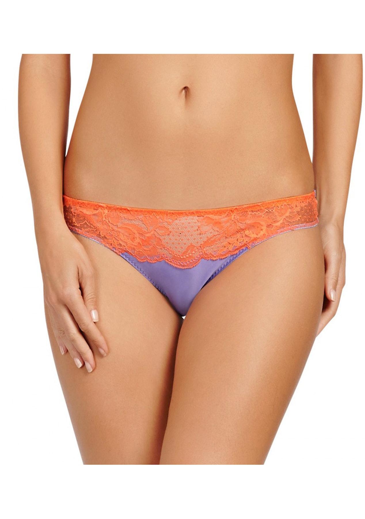 750d0f1be5597 Stella McCartney - Julia Stargazing Bikini Brief - Lavender Fluo Orange -  Lingerie Shop - Onceit