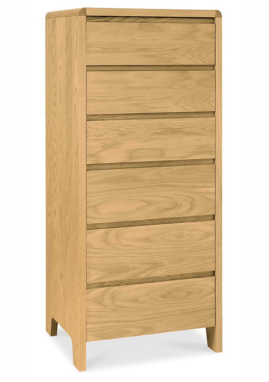 Furniture By Design - Capri Oak 6drw Tall Chest- Light Oak