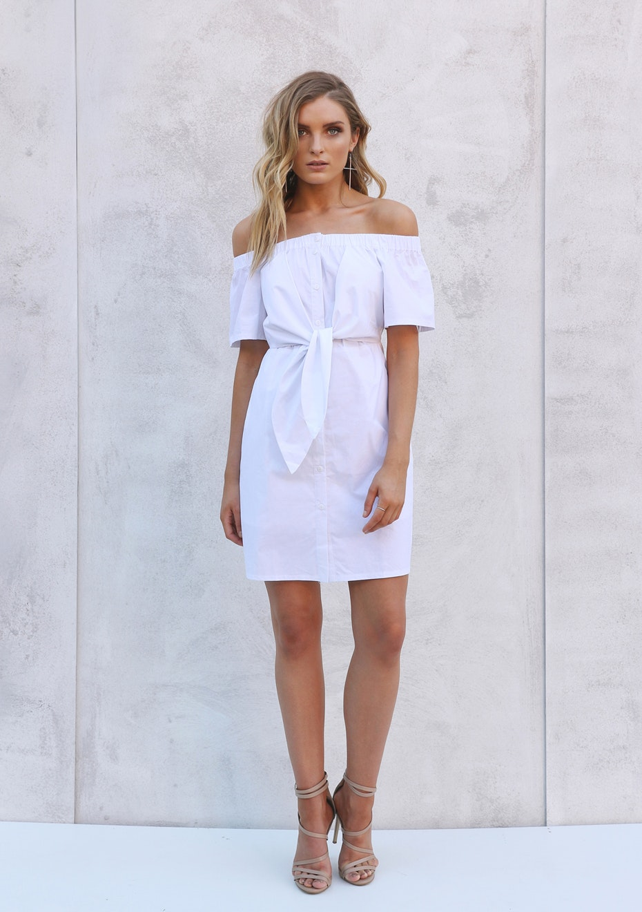 Madison - PIA SHIRT DRESS - WHITE