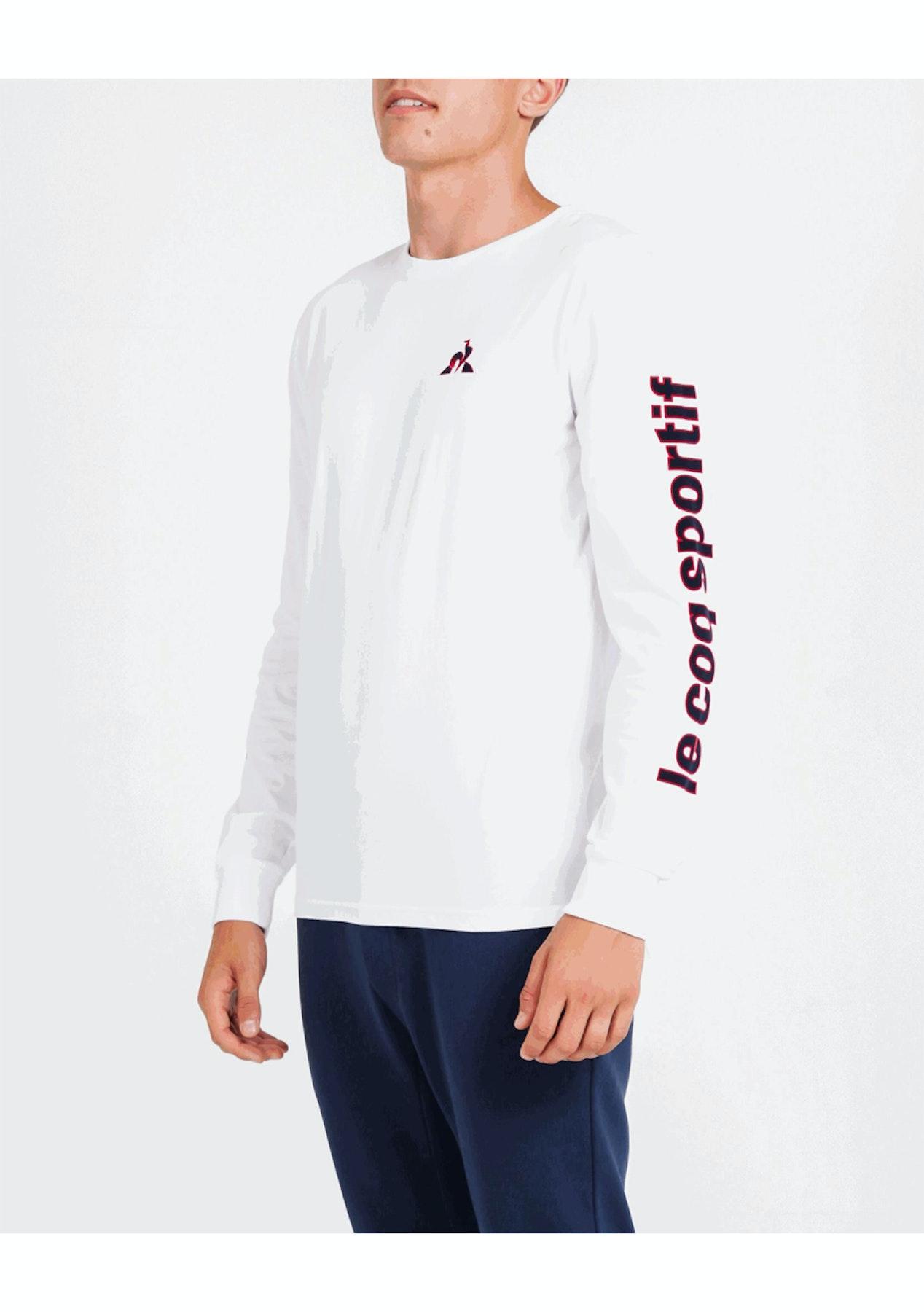 4de630d19bf6 Le Coq Sportif - Mens Jenner Long Sleeve Tee - White - Big Brand Mens  Outlet - Onceit