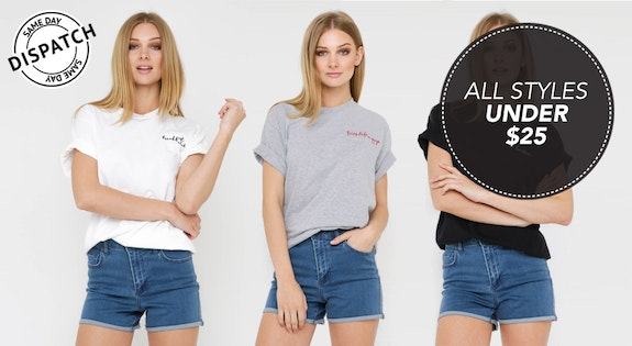 Image of the '$25 Embroidered Tees' sale