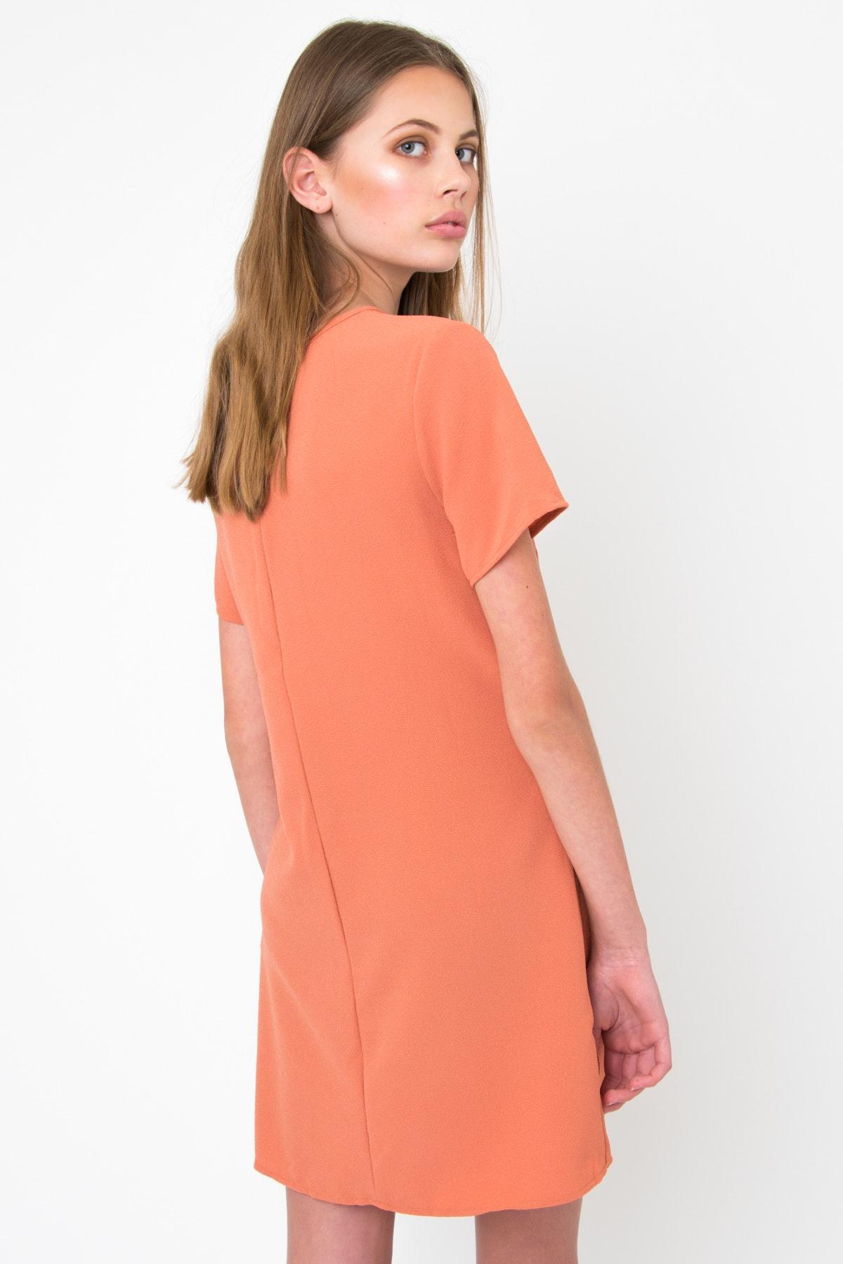 735ffe510001 Ebby and I - Gabriella Tie Dress - Coffee - Under  30 Fashion - Onceit