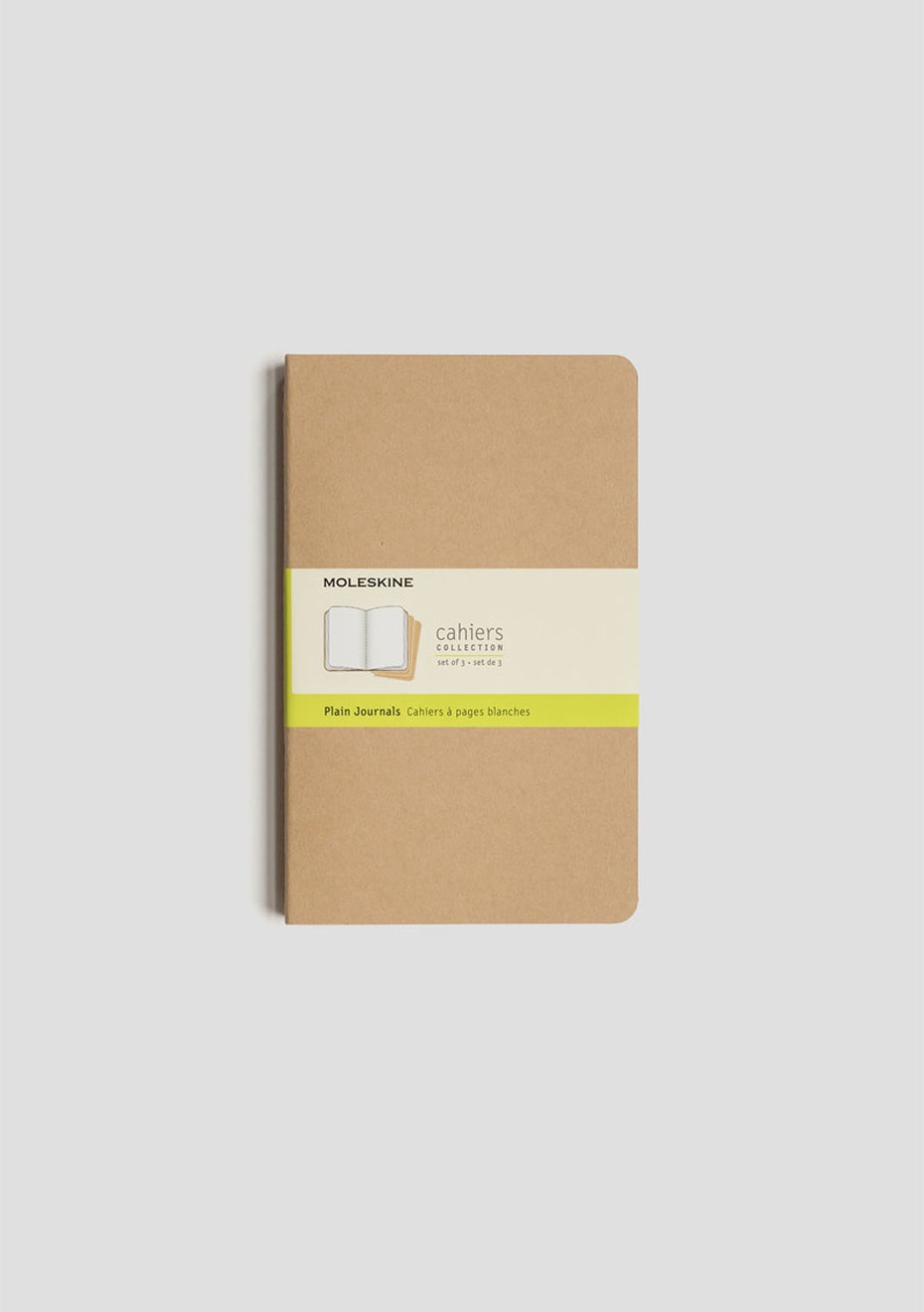 Cahier Notebook - Set of 3 - Plain