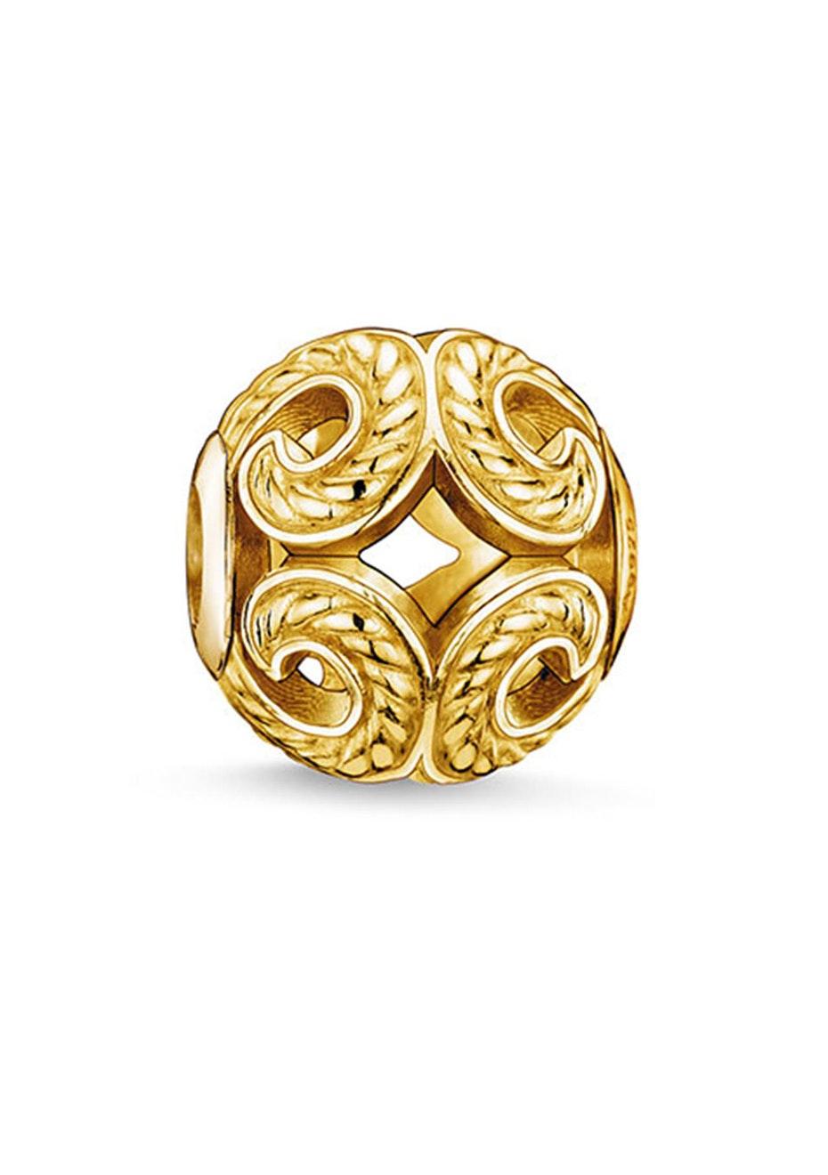 Thomas Sabo  - Karma Bead - Yellow Gold Plated Wave