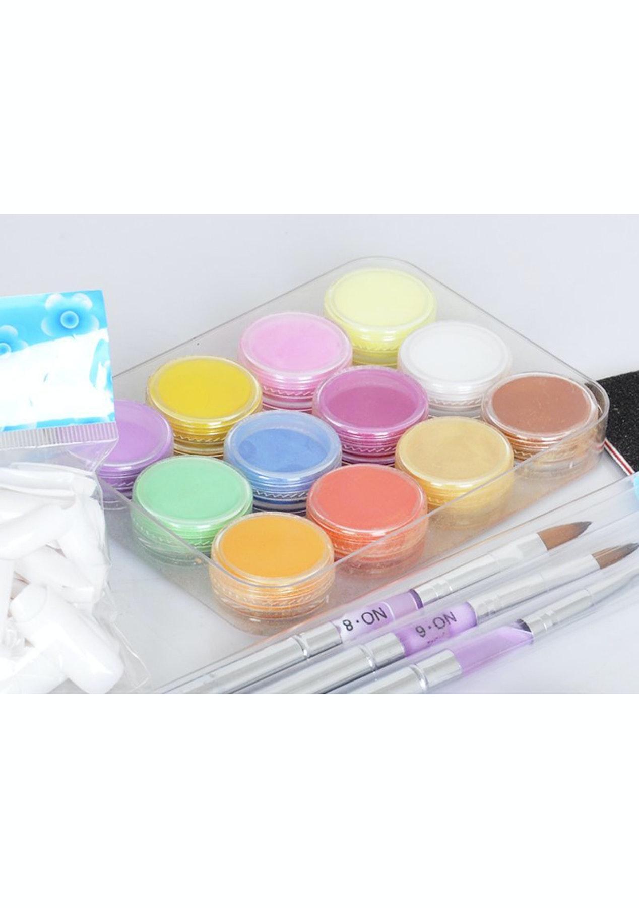 Full Acrylic Powder Nail Kit Set - Pamper Home Spa Day - Onceit