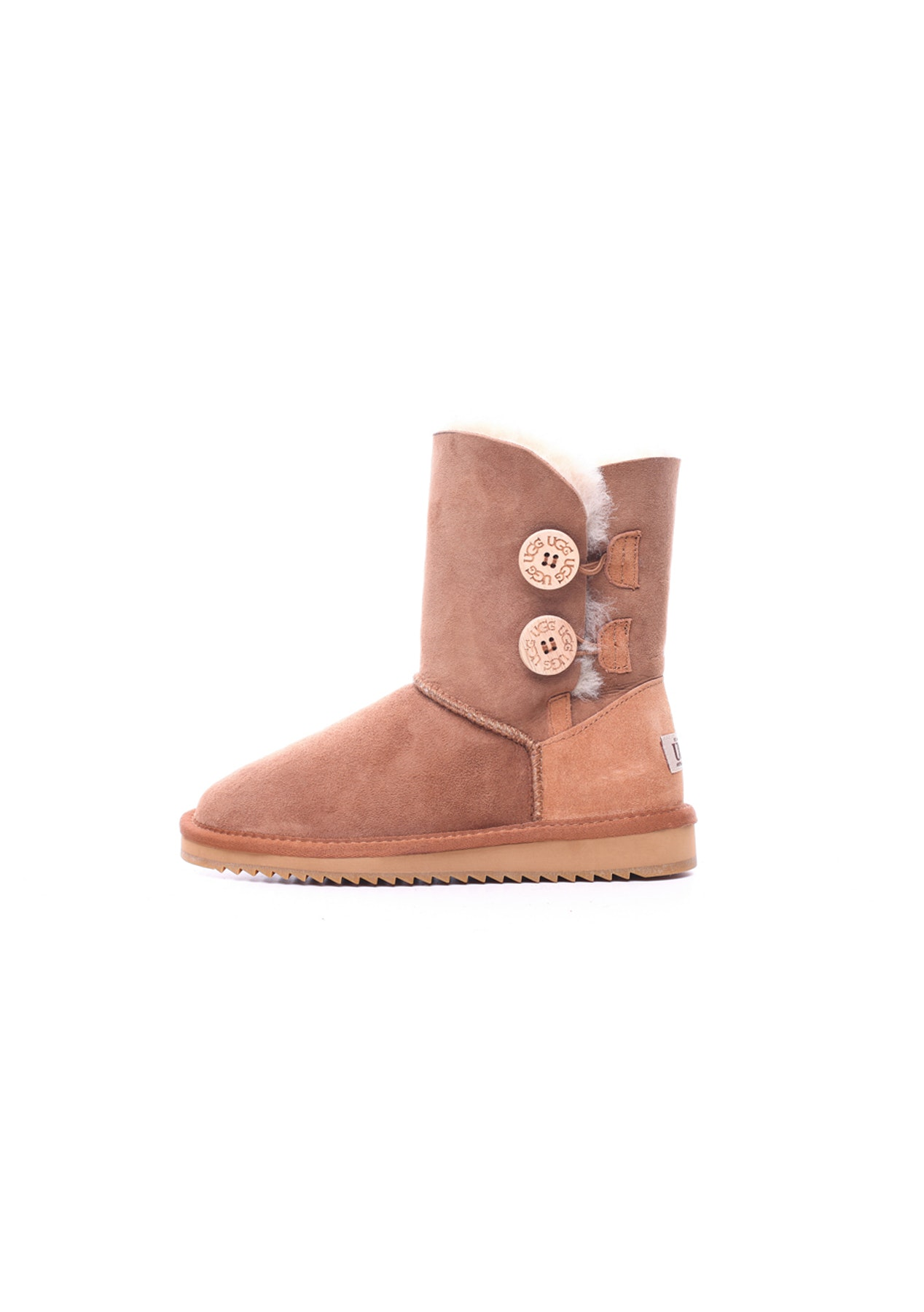 ff96db1048f Oz Natives UGG - Classic Short with Twin Buttons - Chestnut