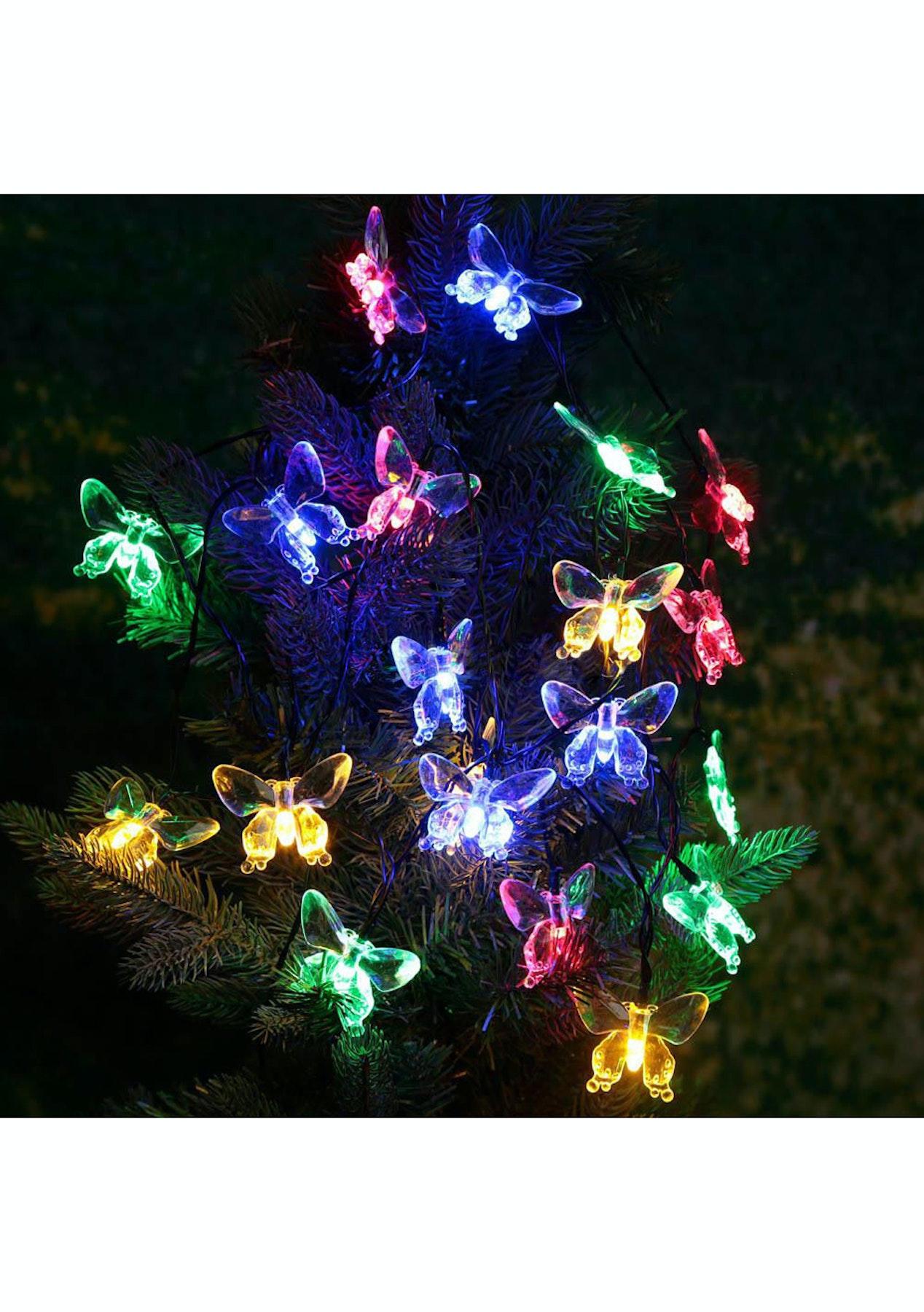 30 Led Solar Butterfly Fairy String Light Multi  Light