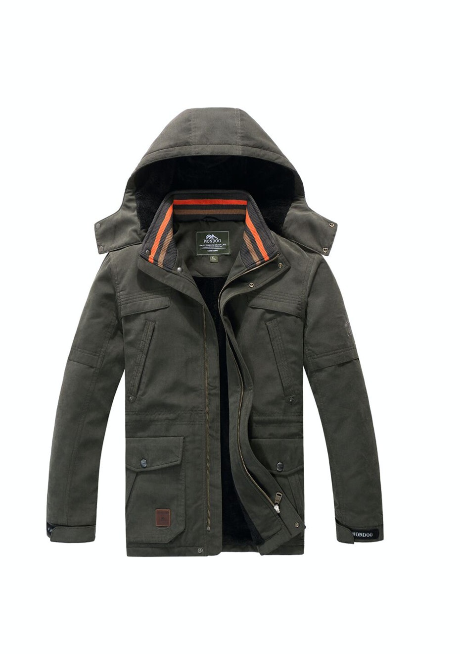 Men 2-in-1 WaterProof Jackets - Khaki