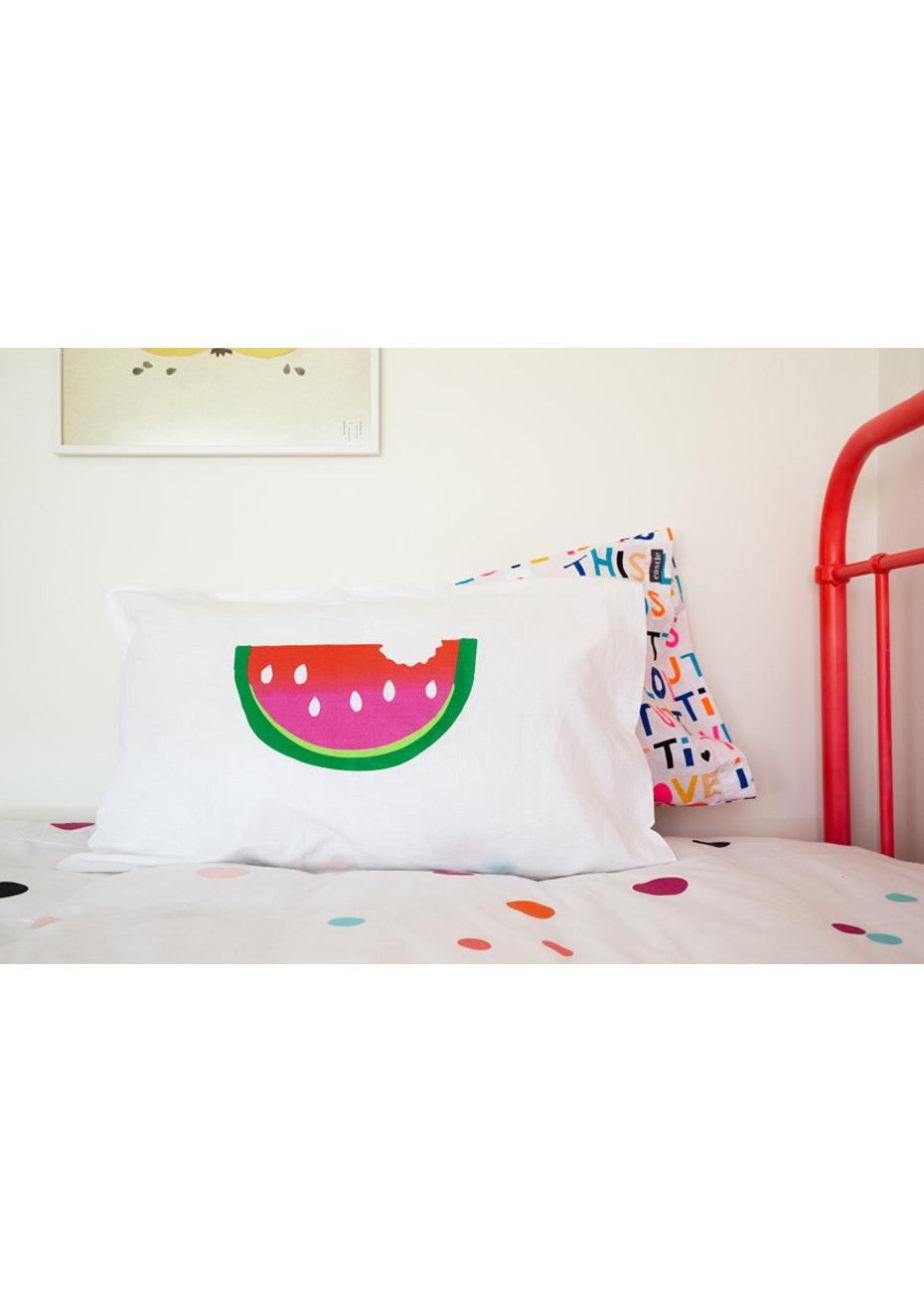 White Fox & Co - Watermelon Pillowcase
