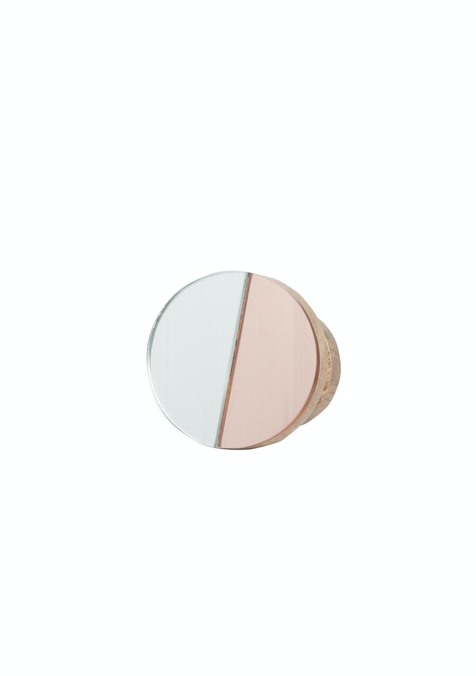 General Eclectic - Wooden Hook Medium DuoTone Mirror
