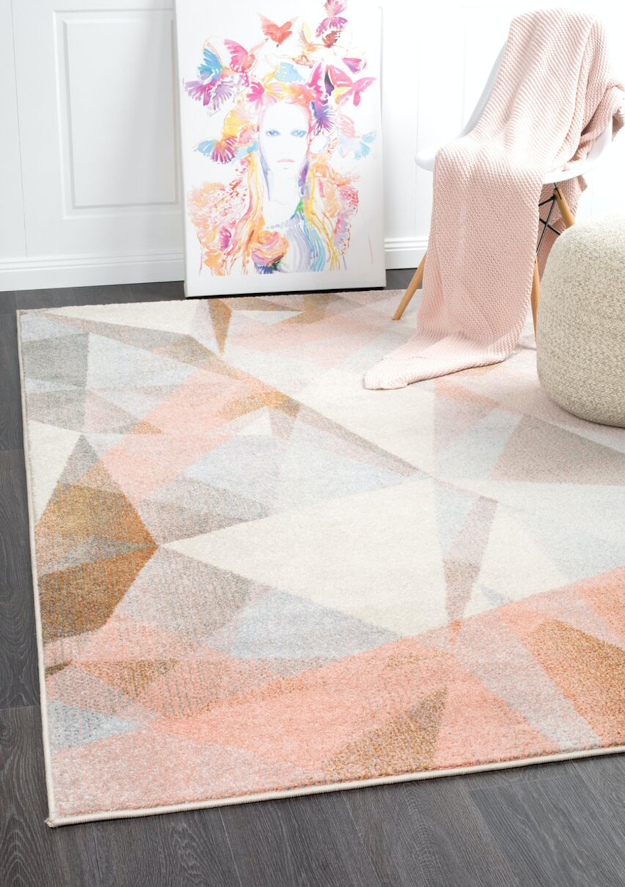 Aail Large Blush Contemporary Rug 290x200cm By Culture Extra Rugs Onceit