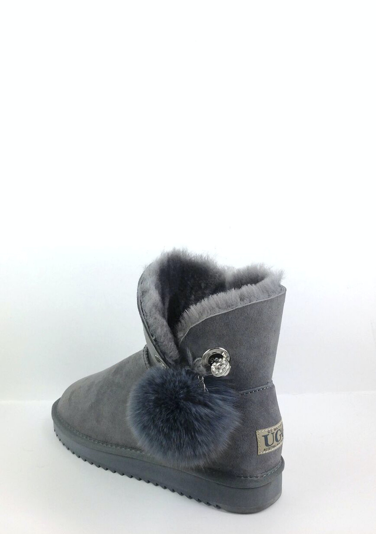 super popular 80825 f66d0 Oz Natives UGG - Rita Ultra Short with Pom Pom - Grey