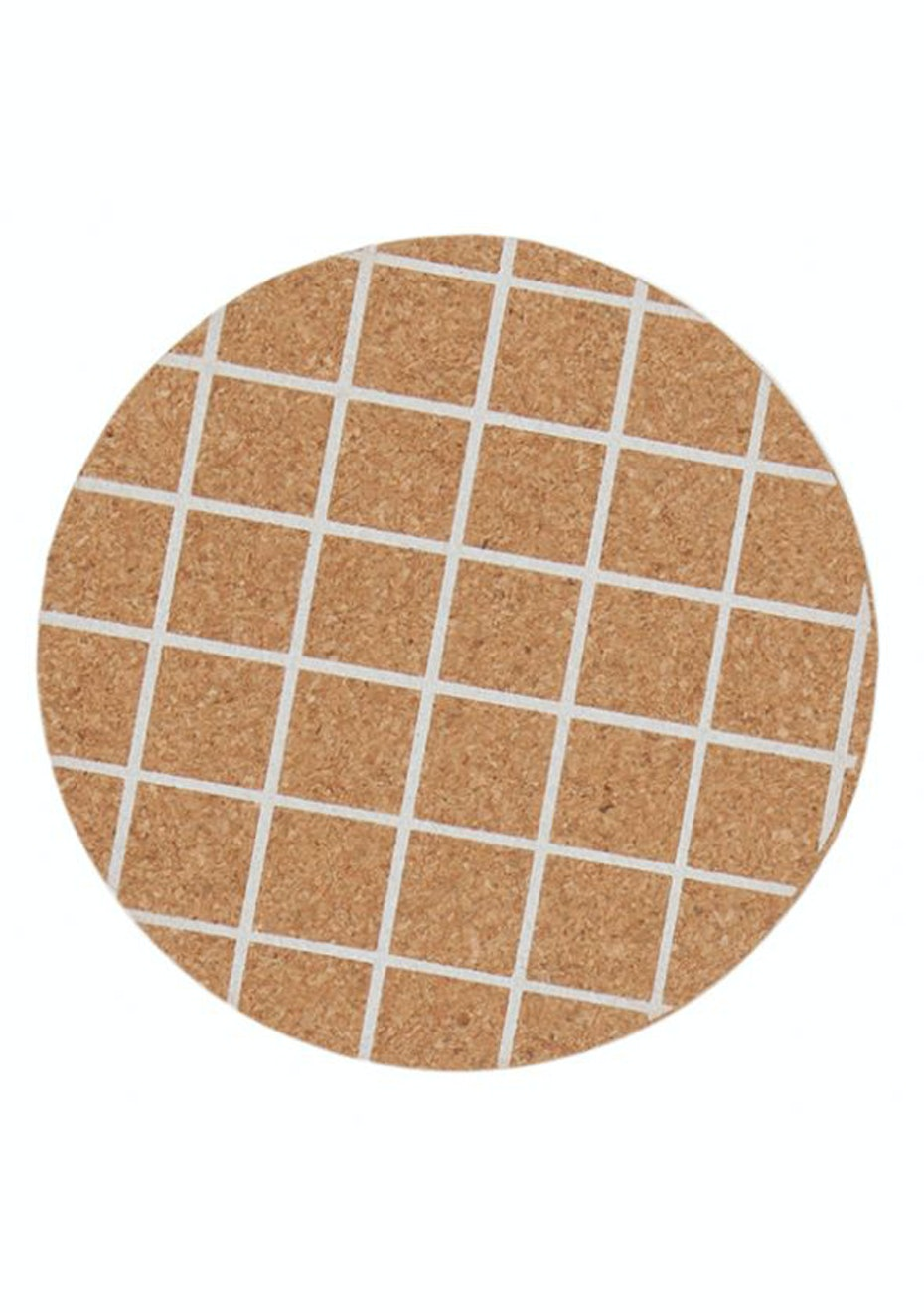 General Eclectic - Cork Coaster White Grid - Set of 4