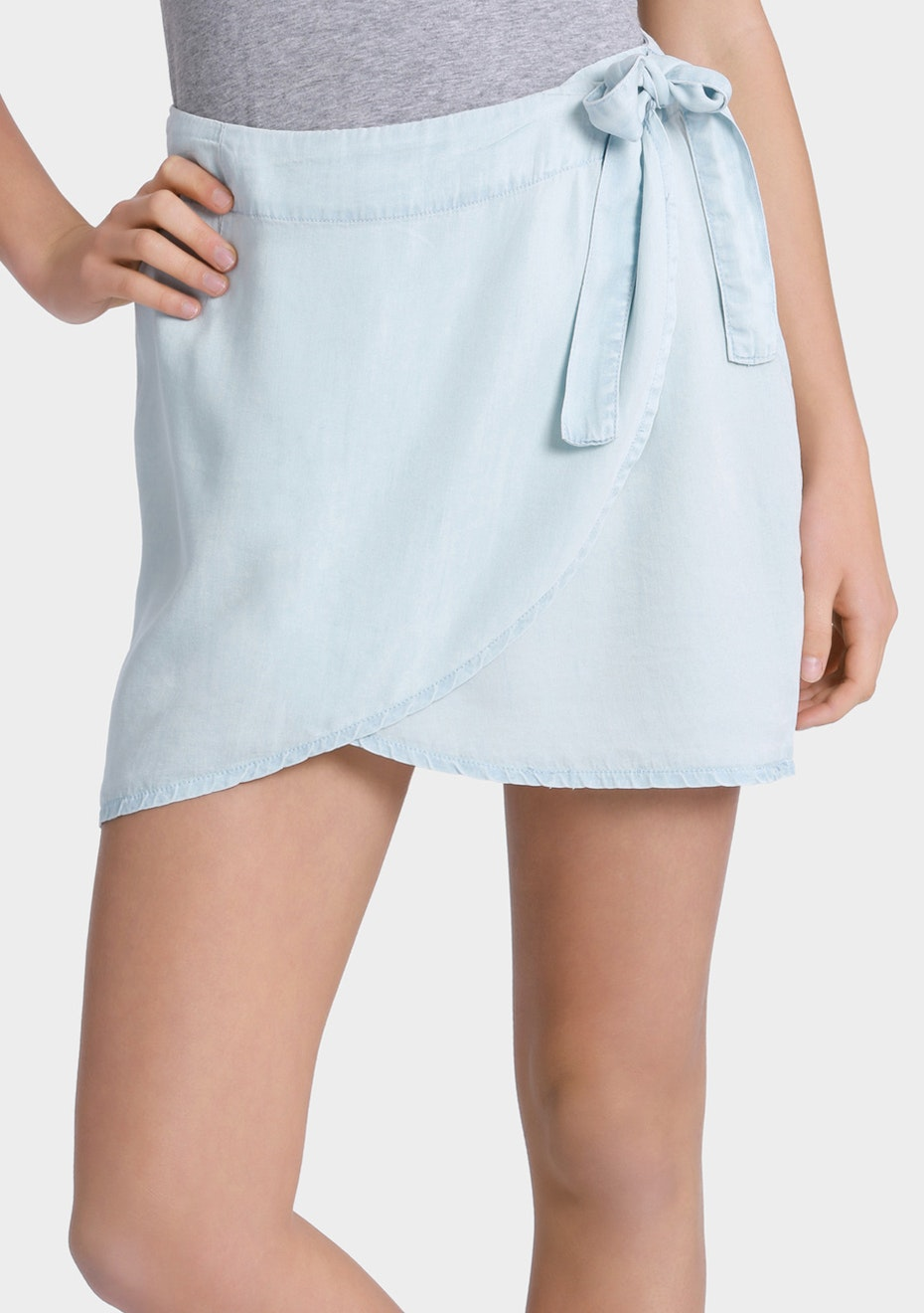 All About Eve - Wrap Me Up Skirt - Chambray