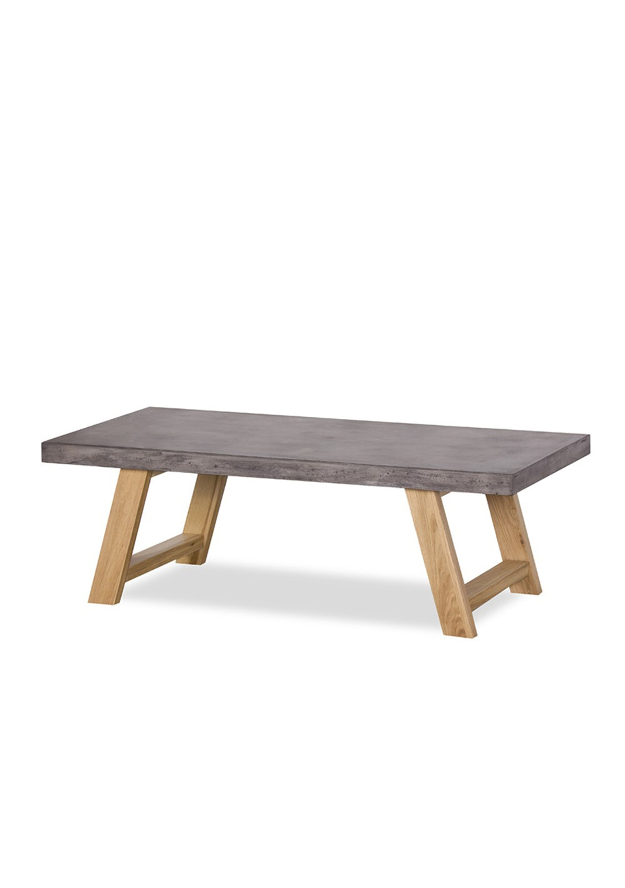 Concrete Coffee Table - Concrete and Solid Oak - Big Furniture Clearance -  Onceit