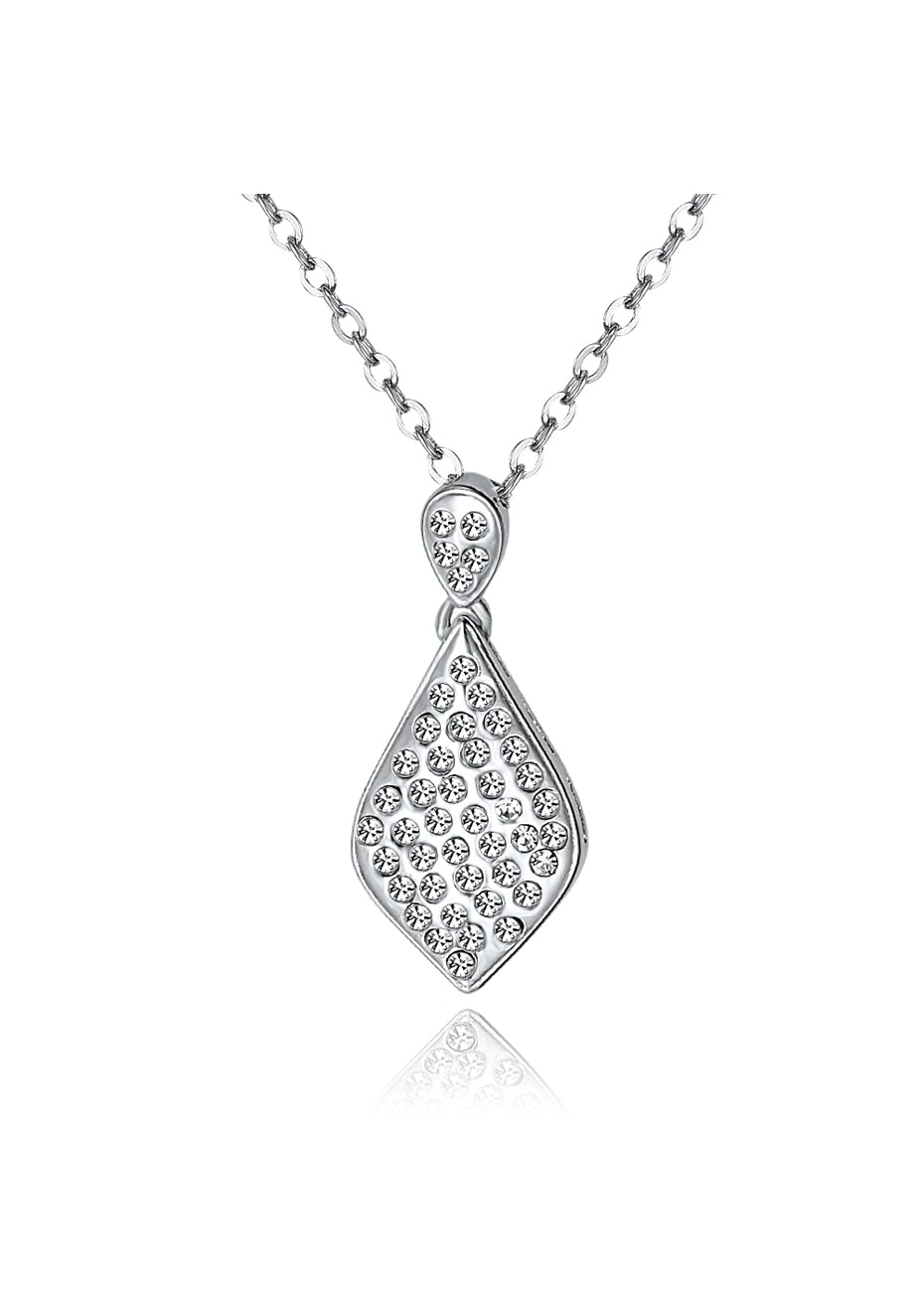 Solid 925 Pendant Set Embellished with Crystals from Swarovski