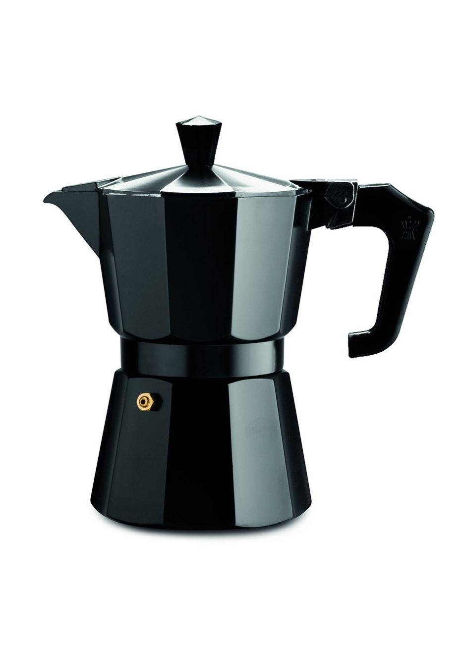 Pezzetti Black Italexpress Aluminium Coffee Maker 1Cup