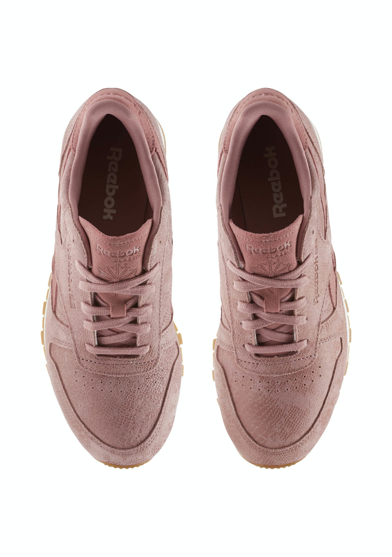 5024eb68f22 Reebok Womens - Classic Leather Clean Exotics Sandy Rose Chalk Gum - 50%  Off Reebok - Onceit