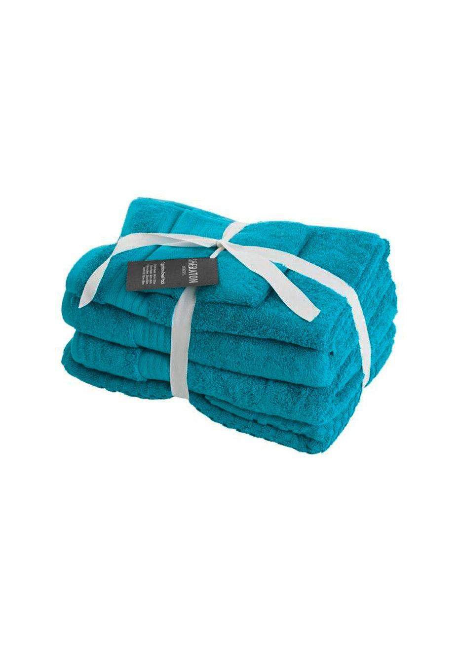 Sheraton Egptian 5 Piece Towel Pack - Colour Peacock