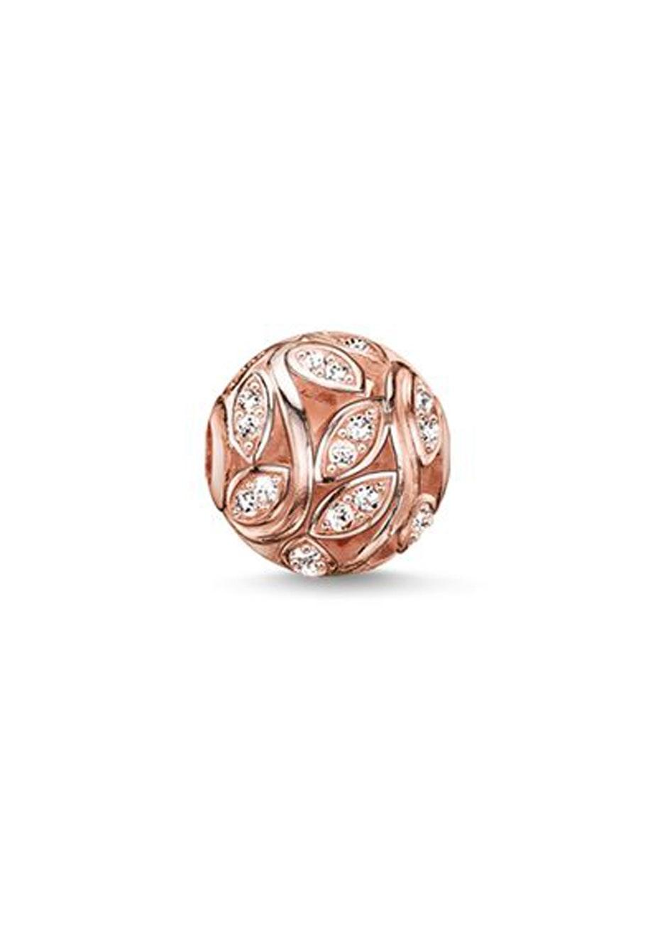 Thomas Sabo  - Karma Bead - Rose Gold Plated Twines Cz Karma