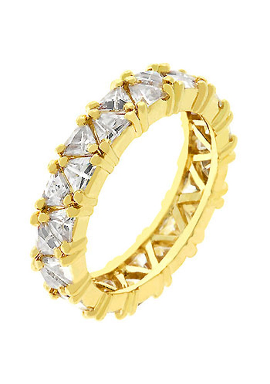 ZigZag Exquisite Eternity Band 14k Gold