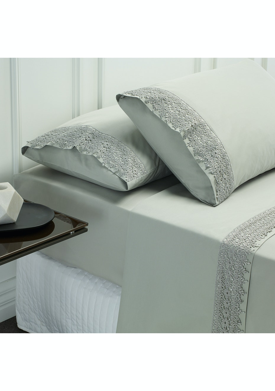 Style & Co 1000 Thread count Egyptian Cotton Hotel Collection Valencia Sheet sets Queen Silver