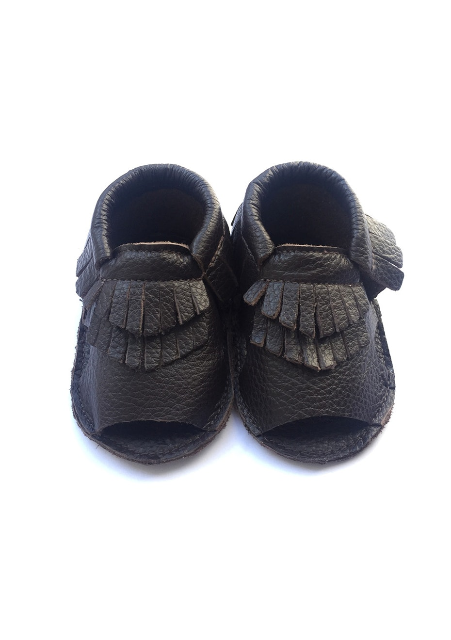 Baby  Leather Sandals - Dark Brown