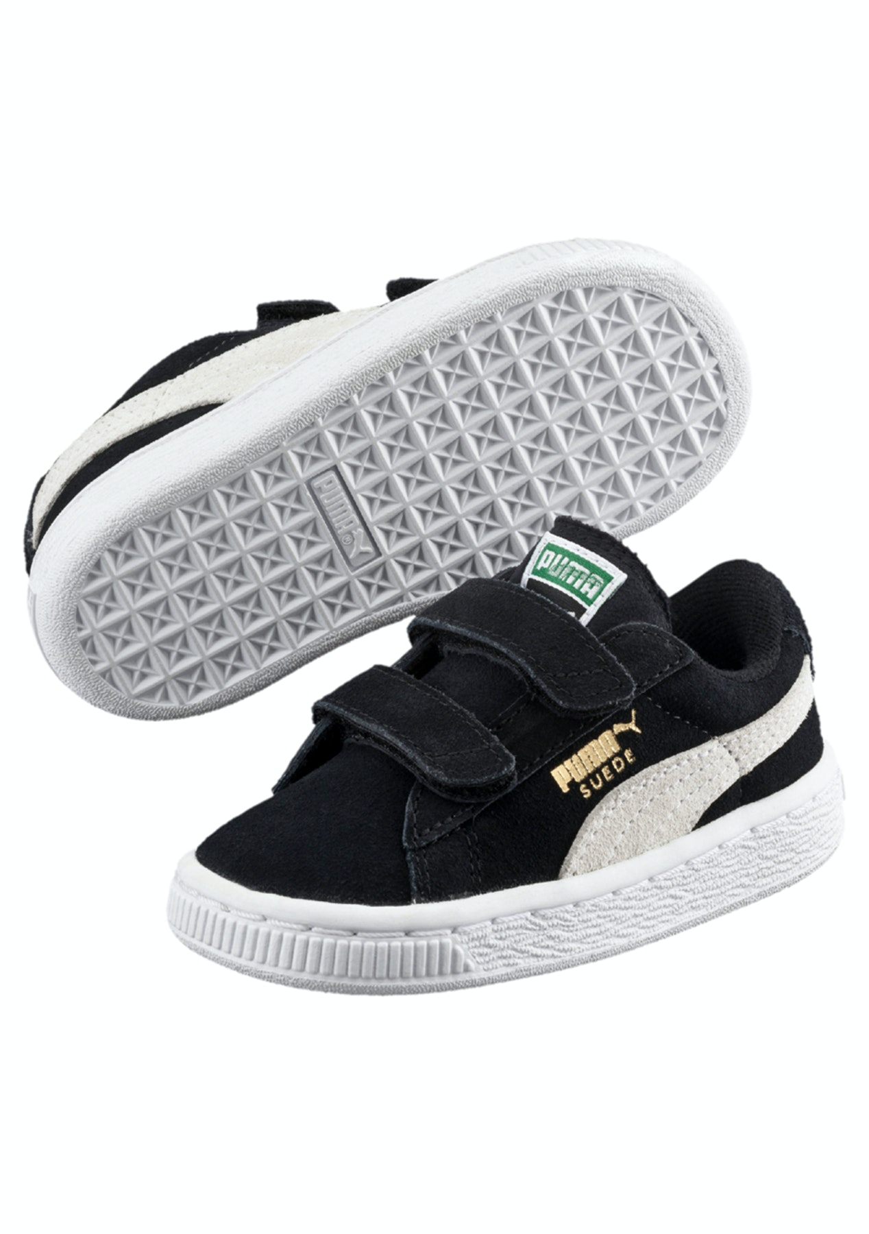 new product 631ab 88f59 Puma - Suede 2 Straps Kids Black