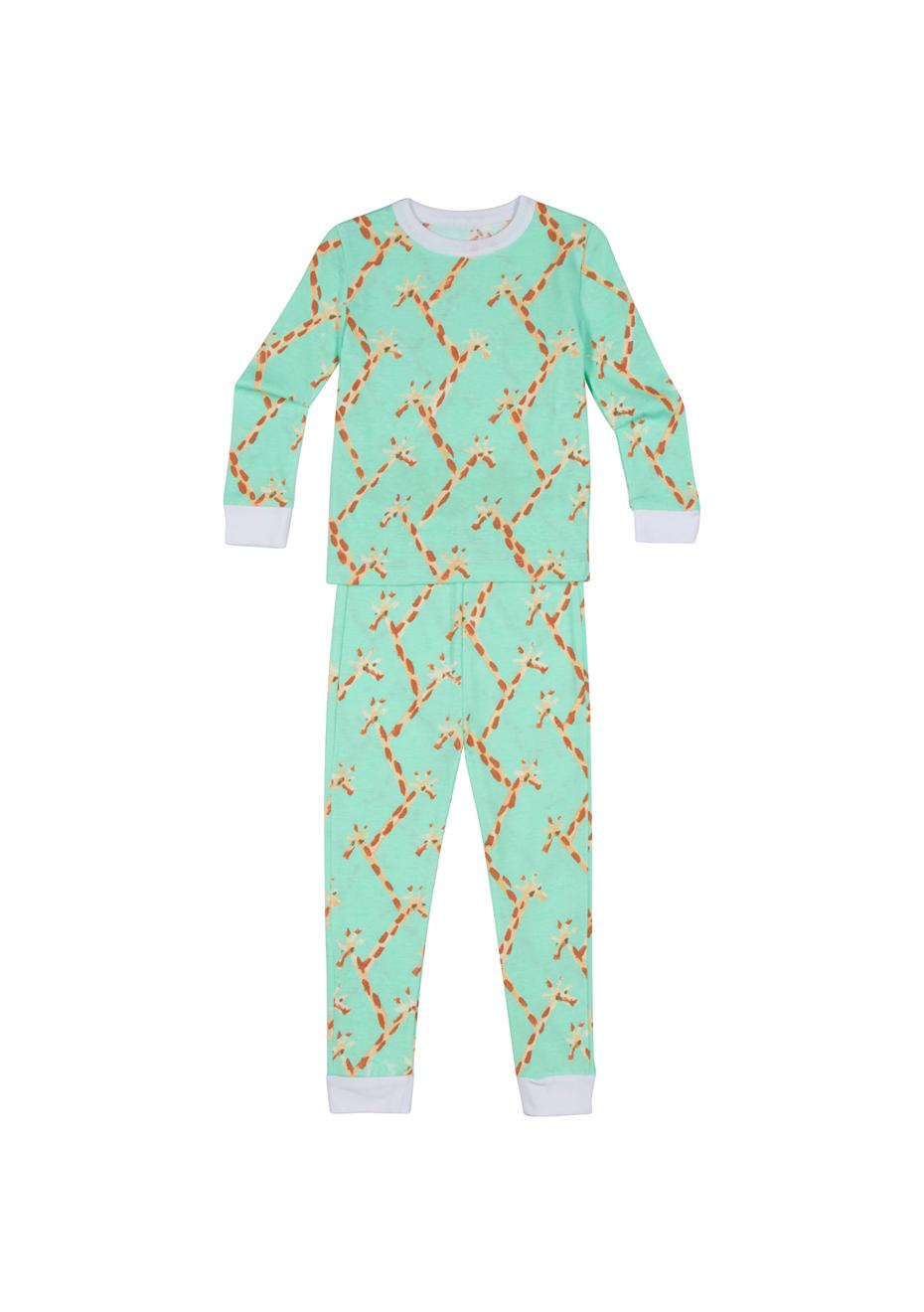 Sant and Abel Kids Zebra Snug Fit Black and White Cotton Pajama Set