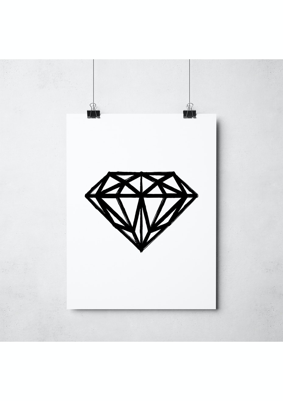 Simply Creative - Dark Diamond - A3 Monochrome Print