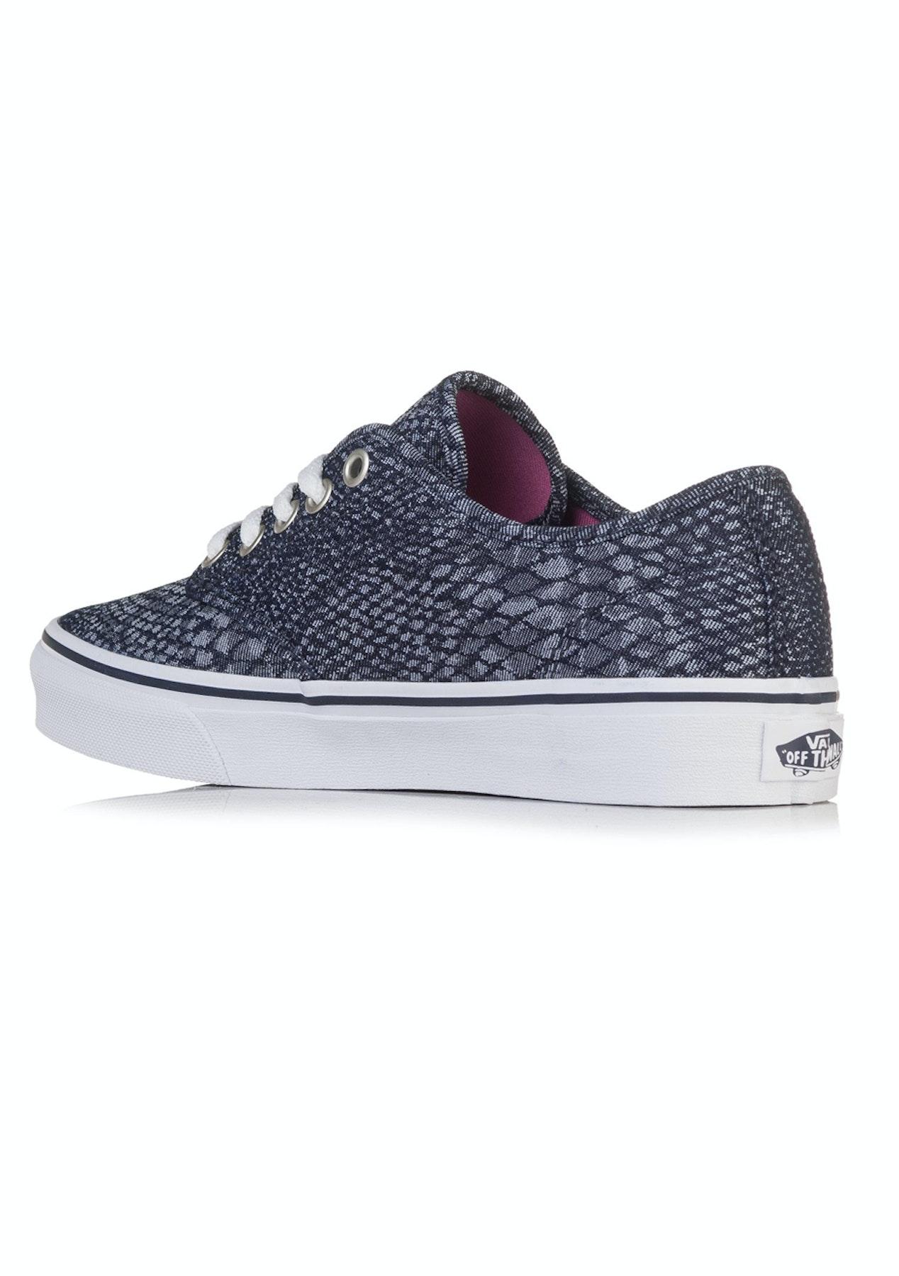 e4a43e1d34 Vans - Womens Camden Stripe Snake - Jacquard Navy - Shoe Steals - Last Ones  - Onceit