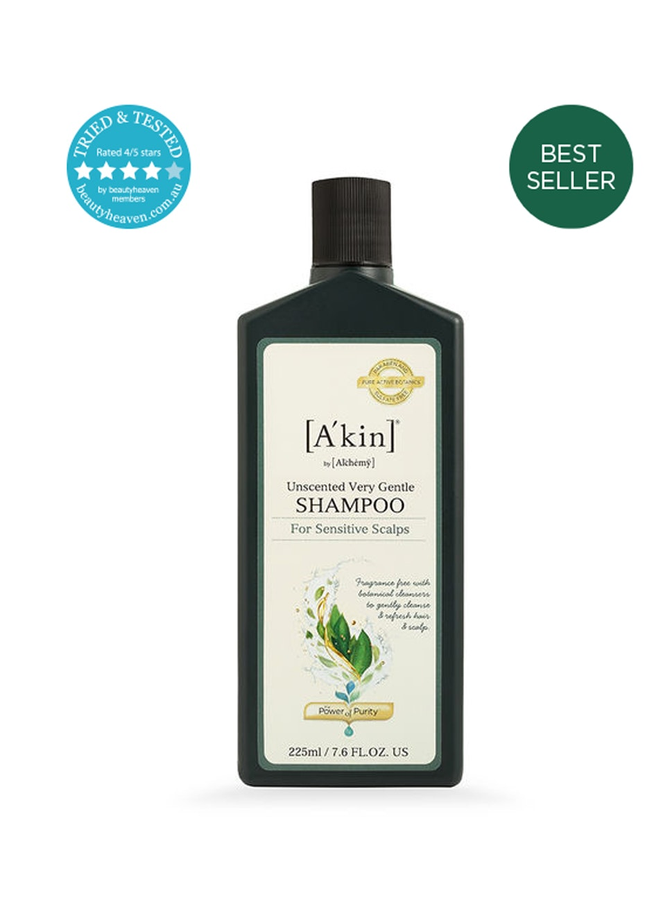 A'kin  - Unscented Very Gentle Shampoo 225ml