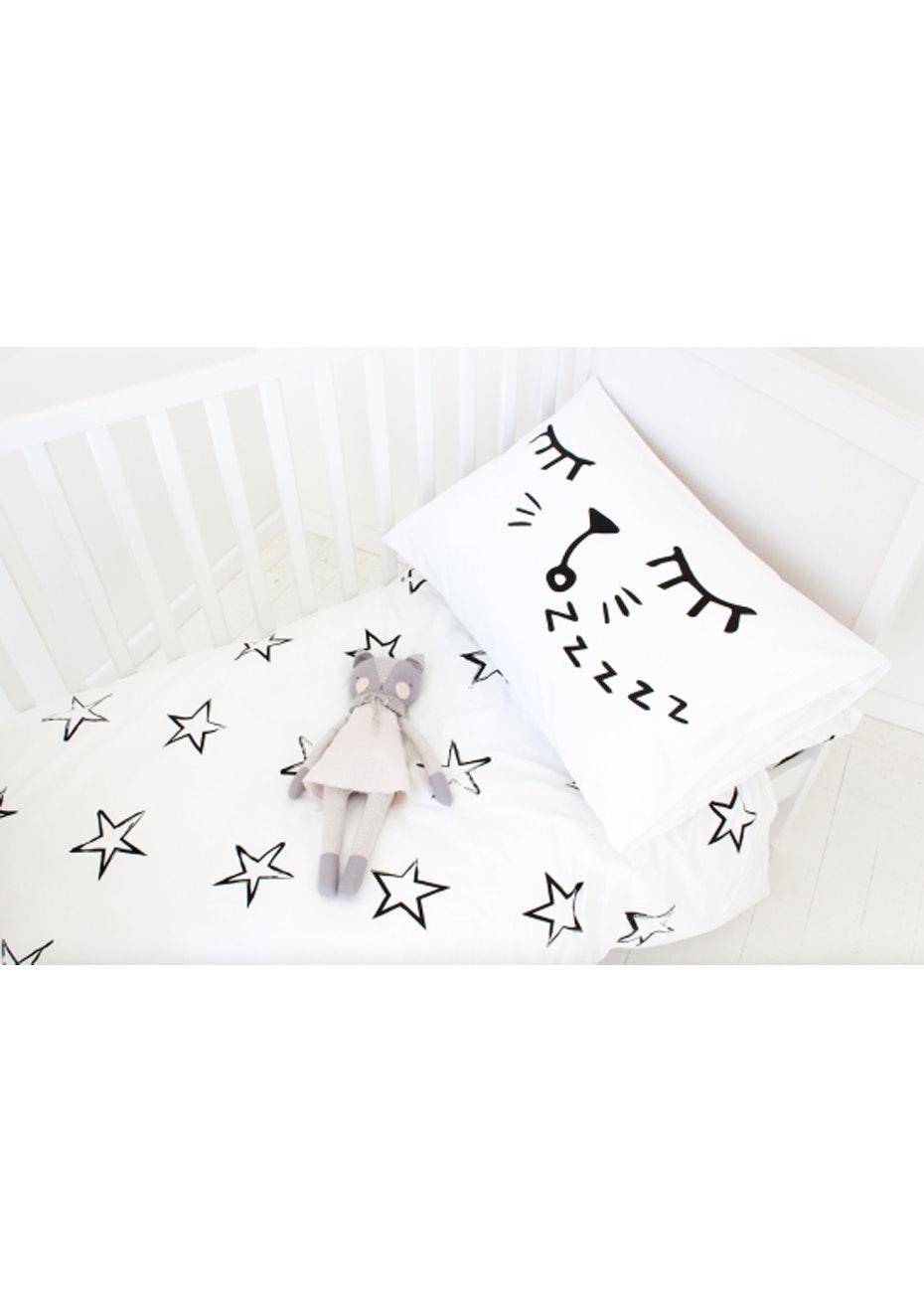 White Fox & Co - Sleepy Cat Pillowcase