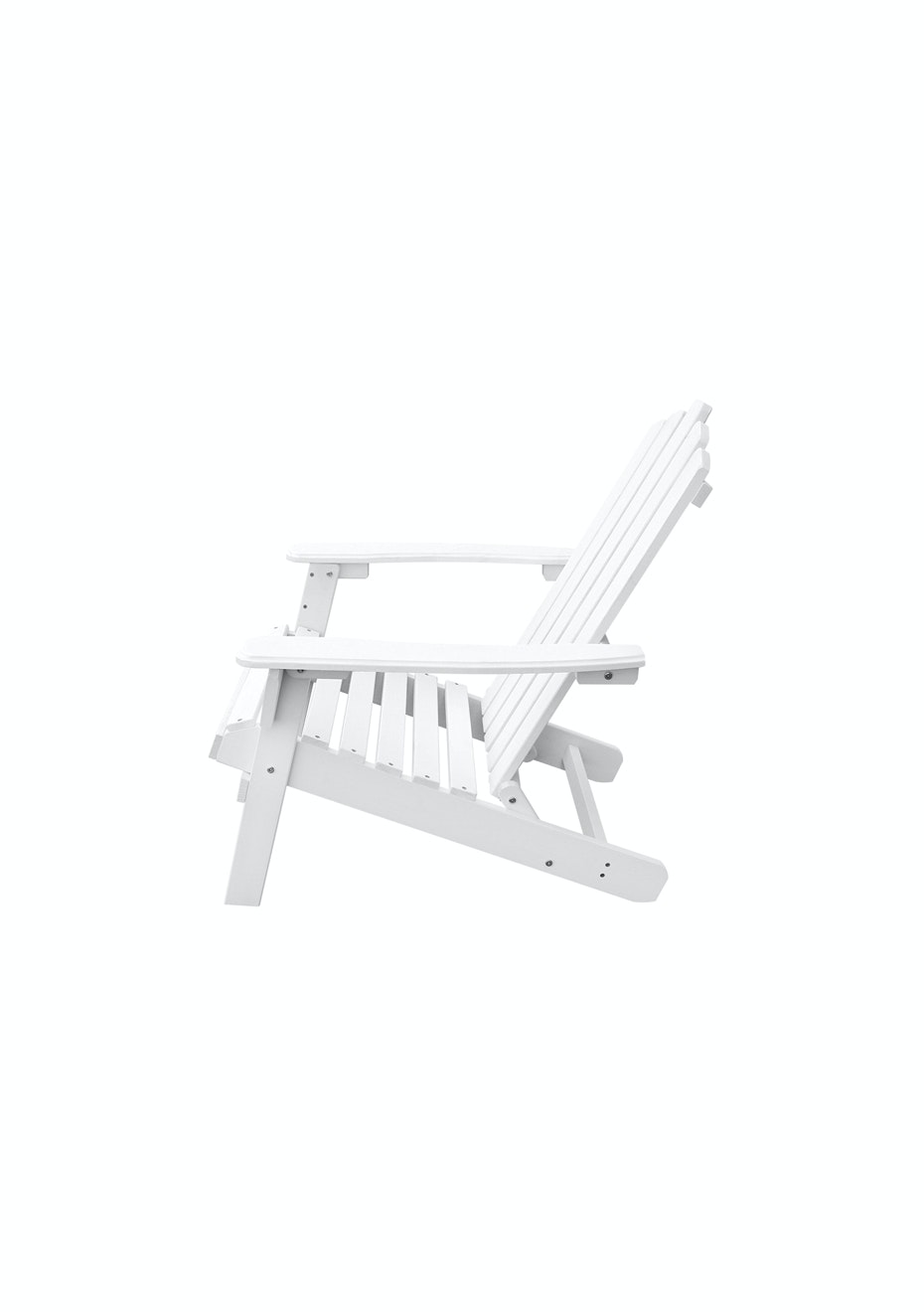 Wooden Adirondack Folding Chair Ottoman White Decorate The Deck Onceit