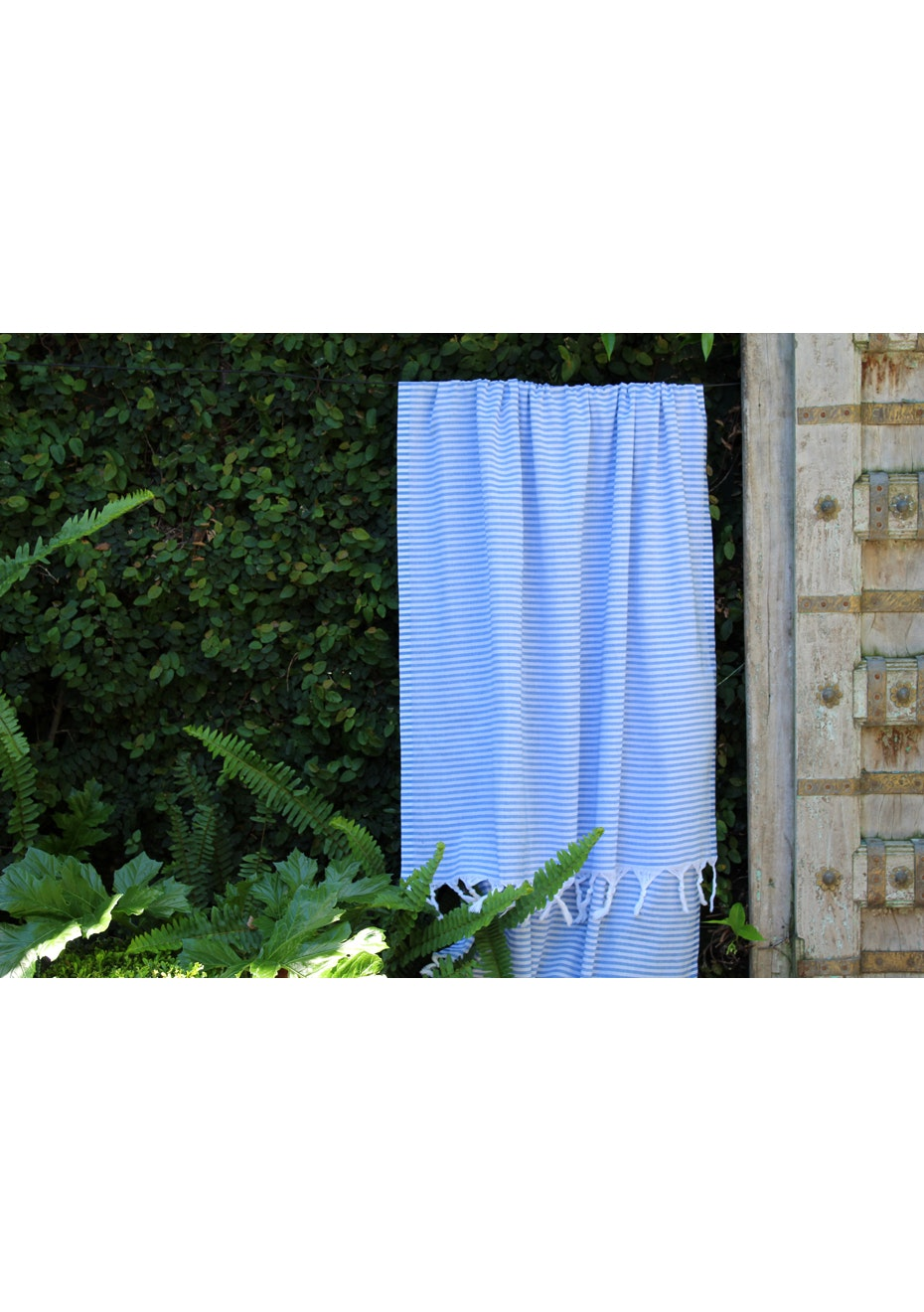 Fresh Royal Blue Stripe Turkish Towel