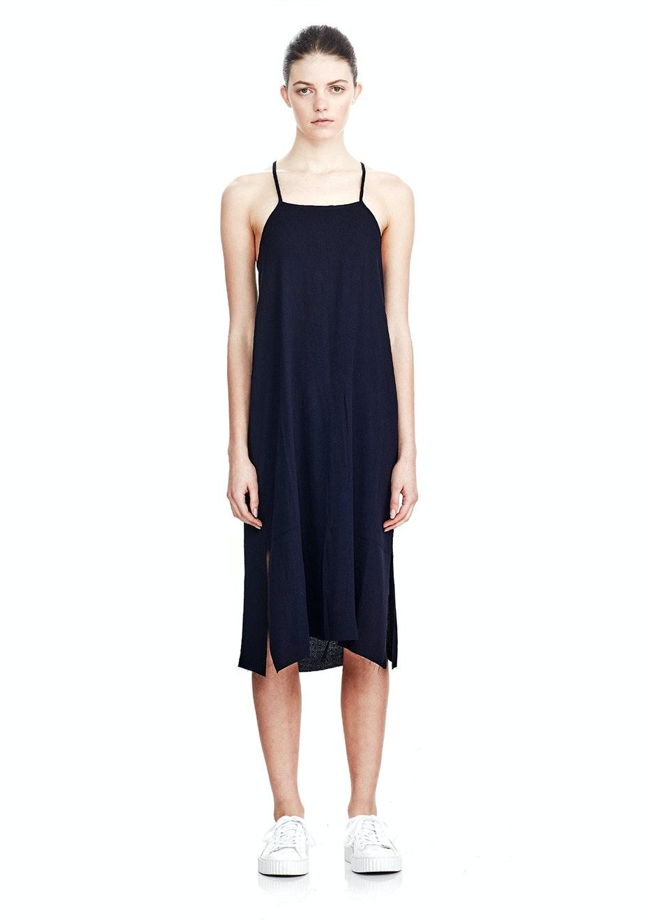Commoners - Crossover Slip Dress - Navy