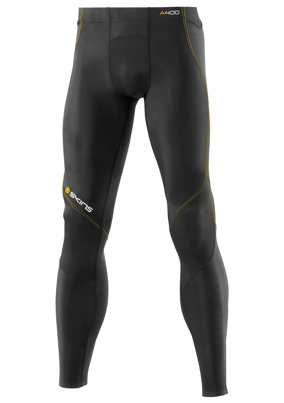 Skins - A400 Black-Yellow Long Tights - Mens