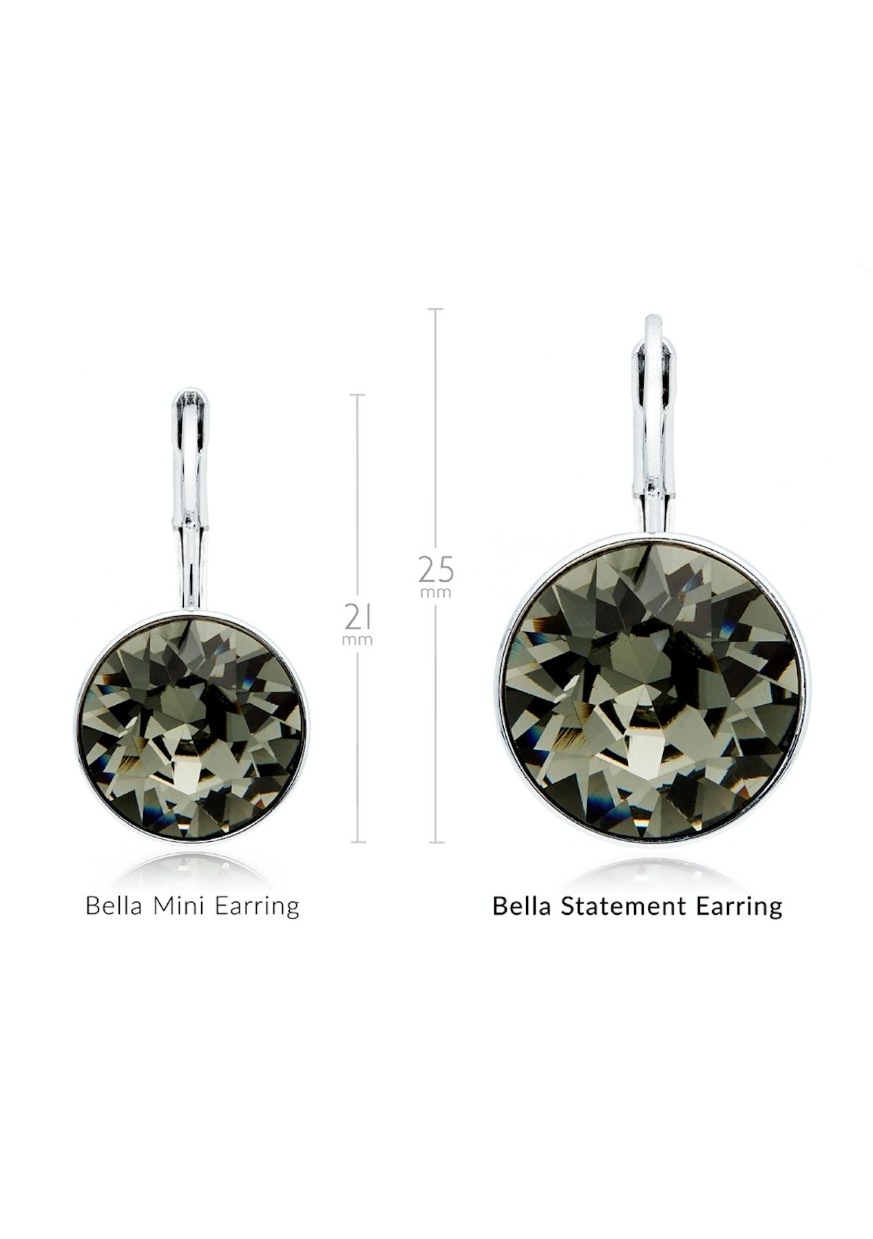 b1da612e6d7 Krystal Cotoure - Bella Drop Earrings with Black Diamond Swarovski Crystals  Bridal WGP - My Jewellery Store Swarovski Elements Jewellery Under $40 -  Onceit
