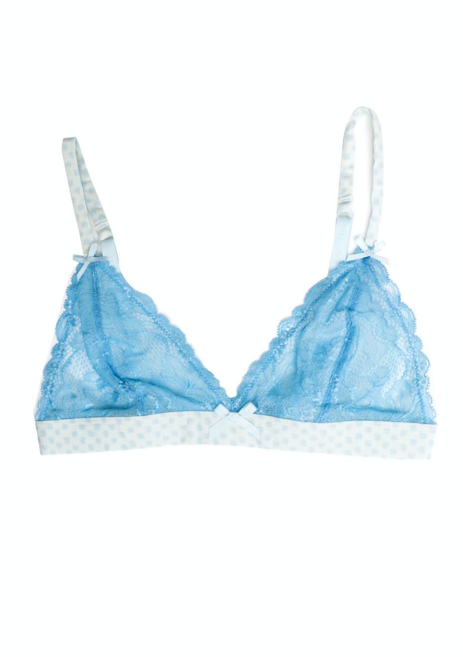 Loveable Paint Spot Soft Cup Bra - Bonnie Blue/Omphalodes