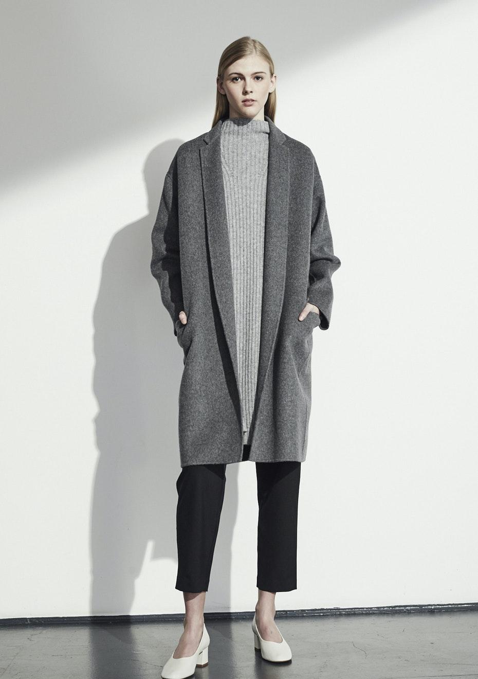 Achro - Handmade Long Coat - Gray
