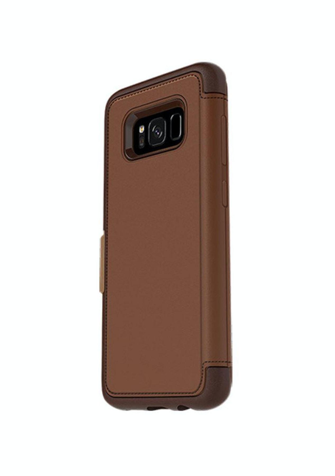 best service 2b561 767f4 Samsung S8 Otterbox Strada Leather Folio Wallet Case - Brown