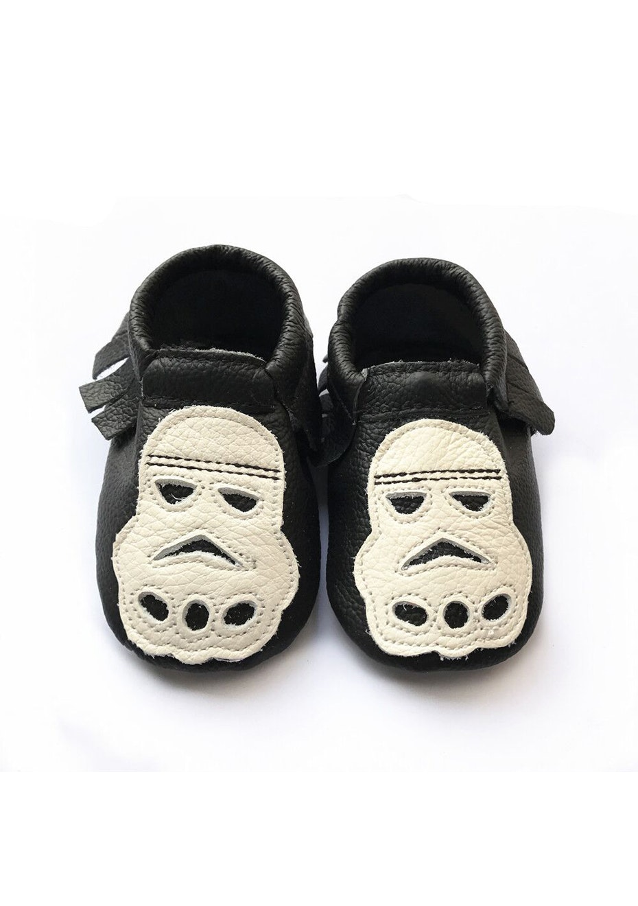 Baby  Leather Shoes - Black / White