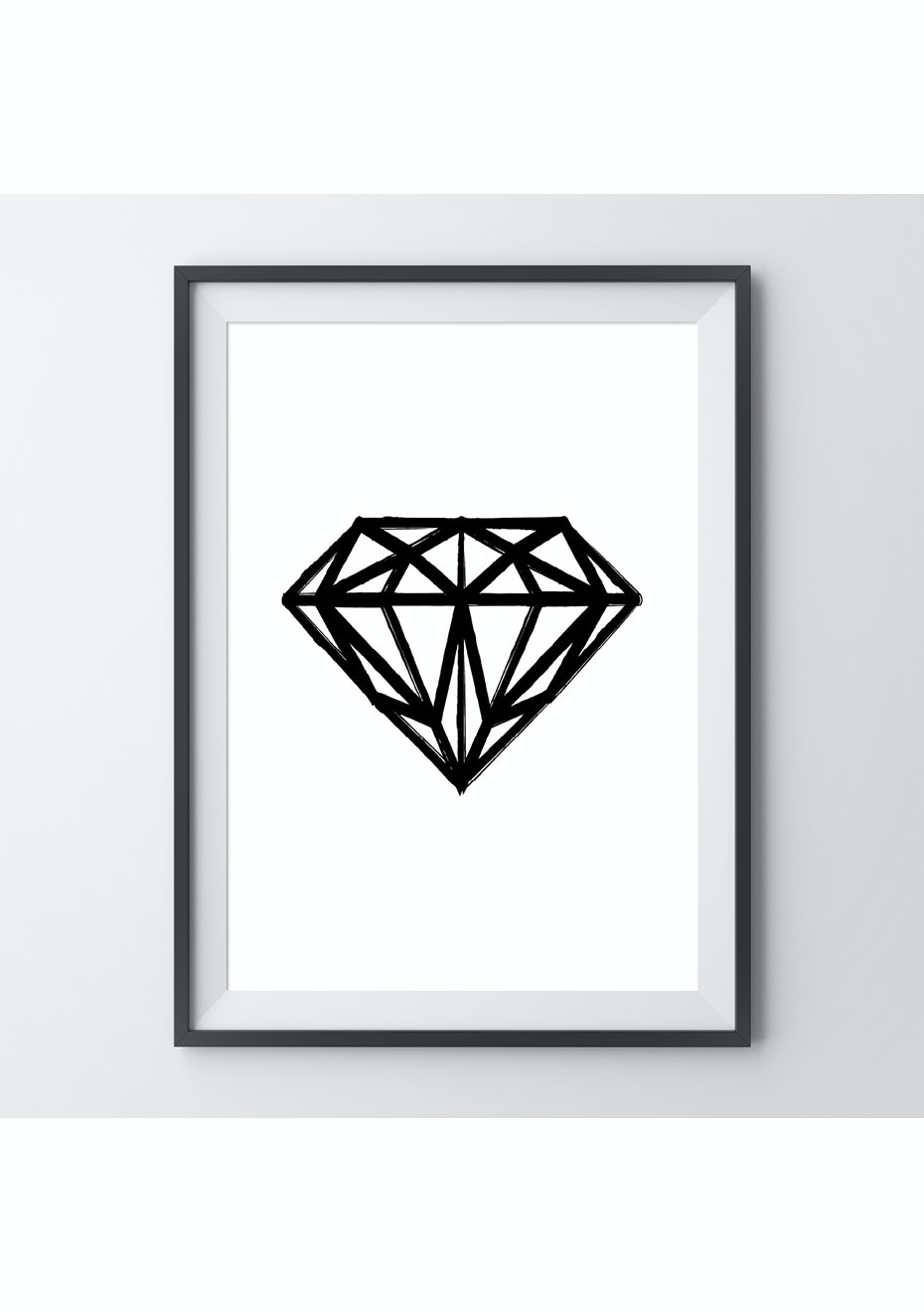 Simply Creative - Dark Diamond - A4 Monochrome Print