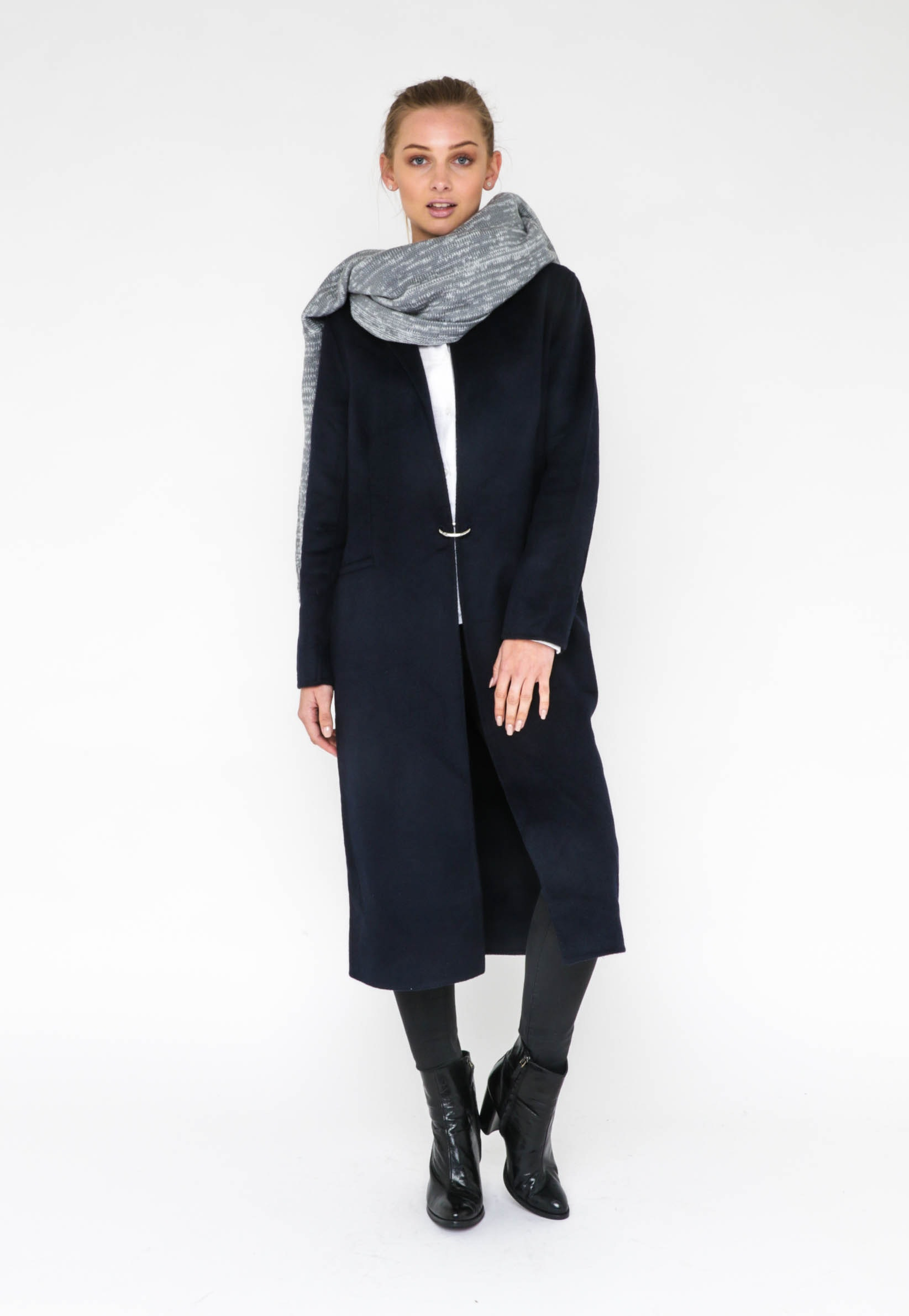 ELSIE LONG COAT  - NAVY