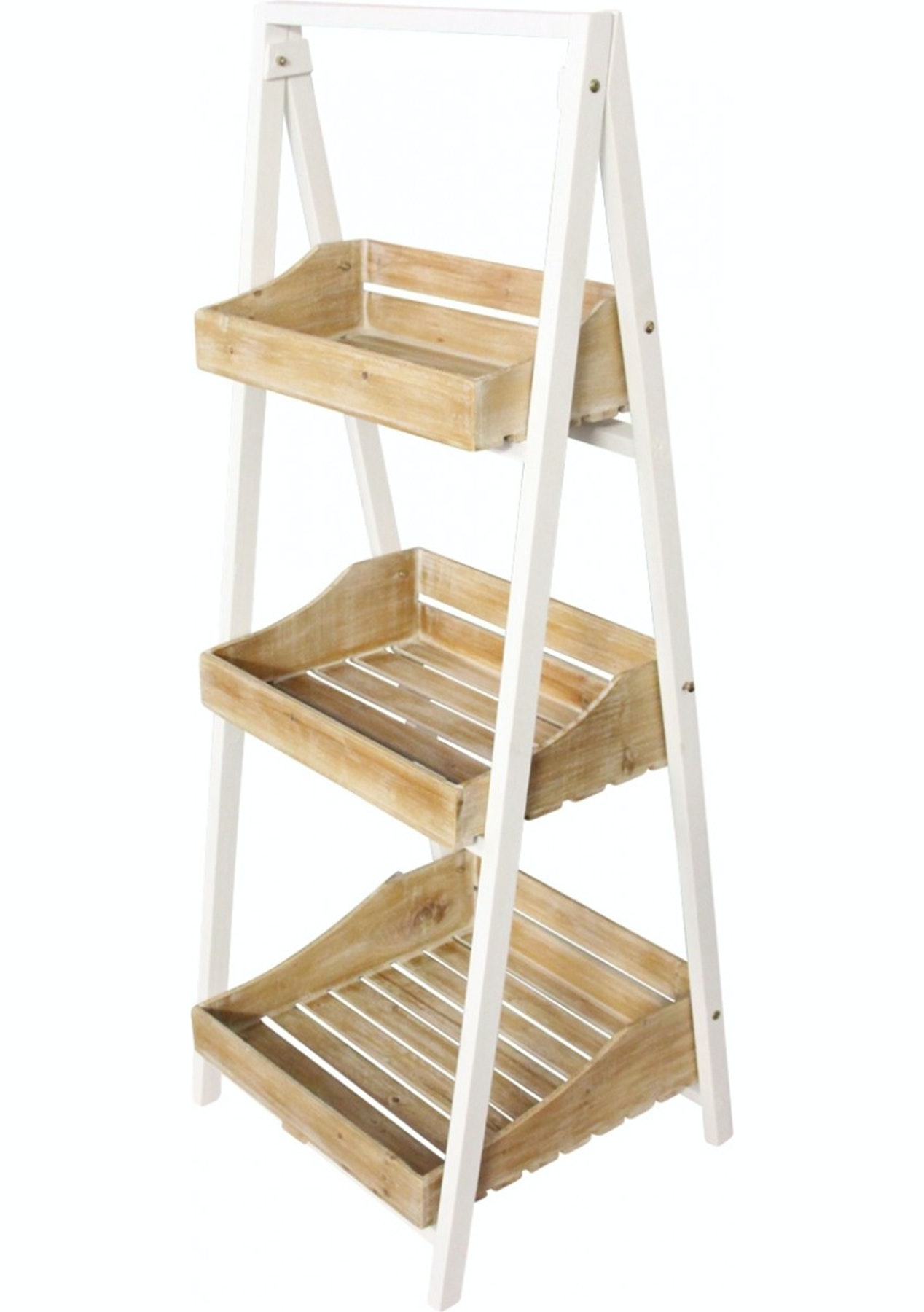135Cm Ladder Shelves With Trays  Shelves, Bookcases, Storage &