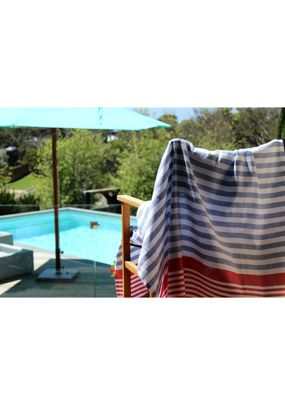 Galia Denim Red Turkish Towel